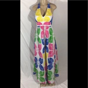 Lilly Pulitzer Sz 2 Maxine Floral Print Maxi Dress
